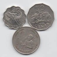Swaziland : Lot De 3 Pièces 1981-2002 (2 Pièces En Bon état + 1 Pièce FAO Très Rare) - Swaziland