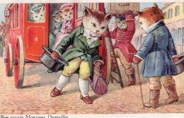V12649 Cpa Illustrée Chat - Chats -   Bon Voyage Monsieur Dumollet - Katten