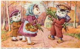 V12656 Cpa Illustrée Chat - Chats -  Nous N'irons Plus Au Bois , Les Lauriers Sont Coupés - Katten
