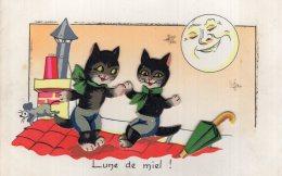 """V12664  Cpa Illustrée Chat - Chats -  Lune De Miel ! """" Ajoutis"""" - Katten"""
