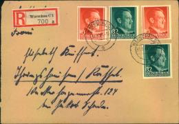 1944, Portogerechtes Einschreiben Mit Hitlerfrankatur Ab WARSCHAU. - Besetzungen 1938-45