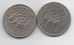 Cameroun : Lot De 2 Pièces : 100 Francs 1966 (épaisseur 3 Mm) + 100 Francs 1983 (2 Mm) - Cameroon
