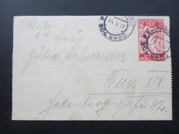 Österreich / Bosnien 1917 Kartenbrief K 11 Bos. Brod - Wien. KuK Militär Post. Hotel Gelbes Haus. - Bosnien-Herzegowina