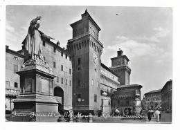 FERRARA - FACCIATA DEL CASTELLO E MONUM. A G. SAVONAROLA  - VIAGGIATA FG - Ferrara