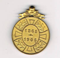 LEOPOLD 2   40 Ans De Reigne  1905 Petite Medaille - Militaria