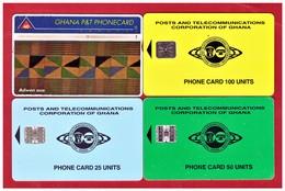 GHANA: 4 Cards. Used - Ghana