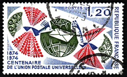 """France  1974 -  Y&T 1817  -  Centenaire De L'union  Des """"Télécommunications    - Oblitéré - France"""