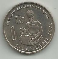 Swaziland 1 Lilangeni 1975.  International Women's Year KM#24 High Grade - Swaziland