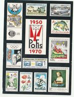 1970 Czechoslovakia Postcard POFIS Ilus STAMPS Of FISH BUTTERFLY ART FLOWER OLYMPICS SPACE SPORT OLYMPIC GAMES Philately - Stamps (pictures)
