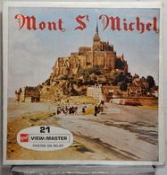 VIEW MASTER  POCHETTE DE 3 DISQUES   MONT ST MICHEL  C 197 - Visionneuses Stéréoscopiques