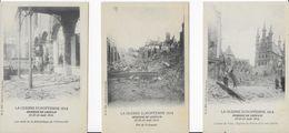 LOUVAIN ..-- MILITARIA . 3 Cartes GUERRE De 1914 . Ruines . - Leuven