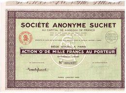 Ancienne Action -  Société Anonyme Suchet - Titre De 1930 - Industrie