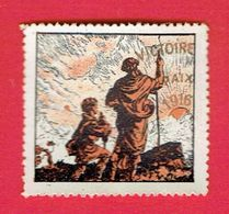 GUERRE 1914 1918 VIGNETTE PATRIOTIQUE DELANDRE VICTOIRE PAIX 1916 POSTER STAMP CINDERELLA - Commemorative Labels
