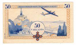 MONNAIE De SCOUTS . Billet De 50 Vaillants . - France