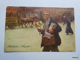 M.M.VIENNE-M.MUNK N° 349-Homme,bouquet De Fleurs - Vienne
