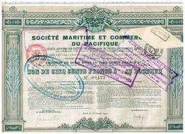 Ancien Bon -  Société Maritime Et Commerciale Du Pacifique - Titre De 1920 - Navigation