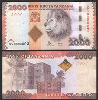 ТАНЗАНИЯ 2000  ШИЛЛИНГОВ    2015  UNC! - Tanzania