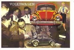 KdF Volkswagen 'Maggiolino'  -  Ferdinand Porsche - Adolf Hitler  -  Brovarone Art Card  -  CPM - Passenger Cars