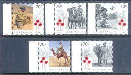 E47- Australia  Animals In War. A Century Of Service.  Flower. Camel. Donkey. - Australia