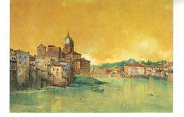 "CP. Série  ""Roma Sparita""  Ettore Roesler Franz.  Veduta Di S. Giovanni  Dei Fiorentini. - Paintings"