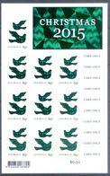 E5- Australia Christmas 2015. Animal. Pigeon. Self Adhesive Stamps. - Australia