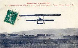 PONTARLIER - AVATION : M.A. Junod Sur Son Biplan H. Farman - Pontarlier