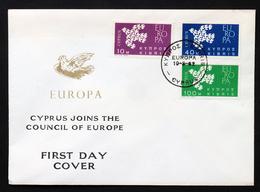 Cyprus 1962 Europa Cept FDC - Europa-CEPT