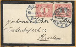 8Nb-962: N° 51 In Paar: OVERVEEN 17.III.21.4-5N *4* > Haarlem - Periode 1891-1948 (Wilhelmina)