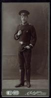 CDV Cabinet Photo GRODNO Soldier With Badge Russia (2960) - Ancianas (antes De 1900)