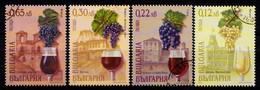 Bulgarie 2001 Mi.Nr.: 4505-4508 Weine  Und Weinbaugebiete  Oblitère / Used / Gestempeld - Bulgaria