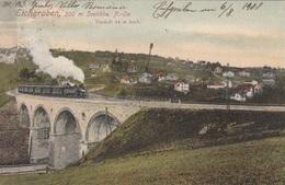 EICHGRABEN (NÖ) - Viadukt 44 M Hoch, Dampflok, Seltene Schöne Karte Gel.1908 Nach Wien, Gute Erhaltung - Altri
