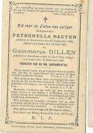 ZON8/  ° ZANDHOVEN 1800 + 1887  PETRONELLA BAETEN EN GUMMARUS DILLEN - Religion & Esotericism