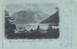 Mondschein Litho Gruss Aus ACHENSEE (Tirol) - Seespitz, Sehr Seltene Karte, Gel.1901, Gute Erhaltung - Achenseeorte