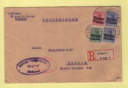 Occupation De La Belgique - Lettre Recommandee Pour Berlin - 1915 - WW I