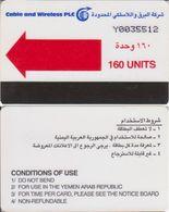 263/ Yemen; Cable And Wireless, 160 Ut., Red Arrow - Yemen