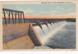 Illinois Joliet Brandon Dam On Illinois Waterway Curteich - Joliet