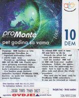 132/ Montenegro - Alo; Rechargeable Card - Montenegro