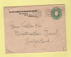 Londres - Entier Postal - Tea Planters And Importers - Plantation De The - 1926 - Destination Suisse - Luftpost & Aerogramme