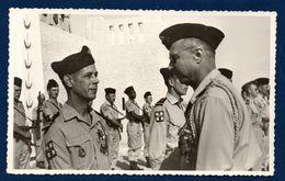 Algérie. Negrine. Fête Du 14 Juillet. Soldats Français Et Mokhaznis - Guerra, Militari