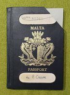 Malta 1973 Passport / Passeport / Reisepass / Pasaporte RARE - Historical Documents
