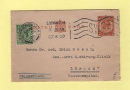 Londres - Entier Postal Destination Suisse - South Kensington - 1920 - Entiers Postaux