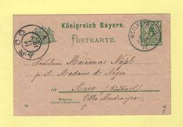 Weilheim Destination Arco - 1902 - Covers & Documents