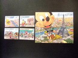 ANTIGUA BARBUDA 1989 WALT DISNEY Yvert 1150 / 53 ** + BLOC 154 ** MNH - Disney
