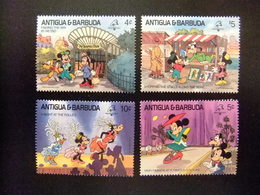 ANTIGUA BARBUDA 1989 WALT DISNEY Yvert 1170 / 73 ** MNH - Disney