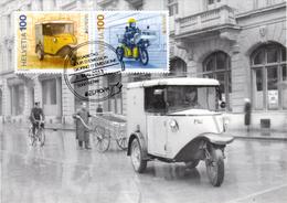 Maximumkarte 2013 Postfahrzeuge EUROPA Tribelhorn Mit Serie / Post Vehicles / Véhicules De Poste / Veicoli Postali - Cartes-Maximum (CM)