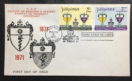 FDC Philippines 1971 - UST Faculty Of Medicine And Surgery, Faculty Of Pharmacy - Other