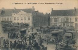H98 - BELGIQUE - POPERINGHE - Chars De Ravitaillement Sur La Grand'Place - Poperinge