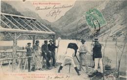 H98 - 65 - CAUTERETS - Hautes-Pyrénées - Sur Les Bords Du Lac De Gaure En Vue Du Vignemale - Cauterets