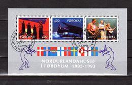 """FEROE 1993 N° YT BF 6 Oblitéré : """" 10 ANS DE LA MAISON NORDIQUE DE TORSHAVN """". Parfait état. - Faroe Islands"""