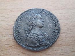 BP PIECE PUBLICITAIRE FIN 60's COPIES DE MONNAIES TRESOR DES ROIS DE FRANCE N°19 LOUIS XIV ECU 1643 - Imitazioni